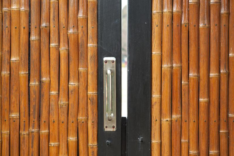 bamboe tuinpoort